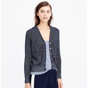 J. CREW navy metallic button cardigan